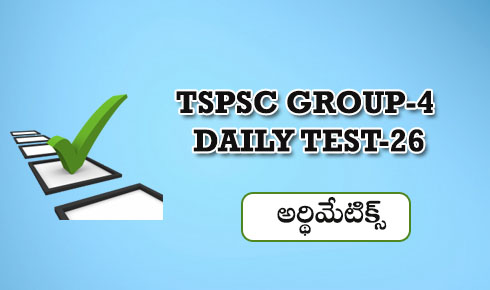 GROUP-4 DAILY TEST 26