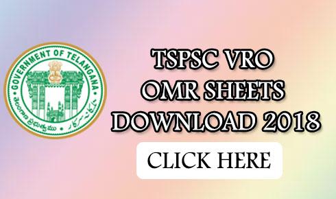 TSPSC VRO OMR SHEETS DOWNLOAD 2018