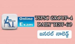 TSPSC GROUP-4 DAILY TEST-60