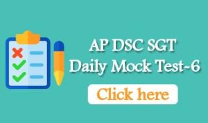 AP DSC SGT Daily Mock Test-6