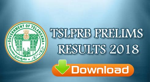 TSLPRB PRELIMS RESULTS 2018