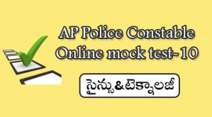 AP Police Constable Online mock test-10