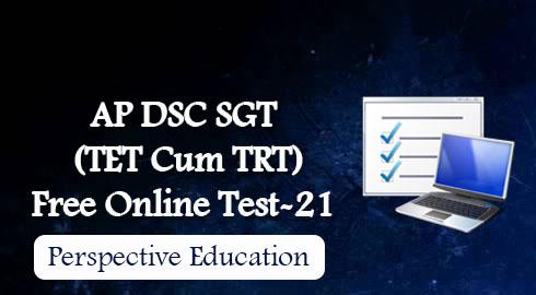 AP DSC SGT (TET Cum TRT) Free Online Test-21