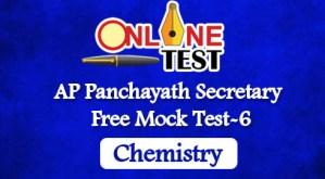 AP Panchayath Secretary Free Mock Test-6