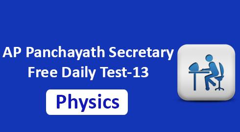 AP Panchayath Secretary Free Daily Test-13