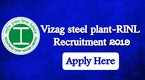 Vizag steel plant-RINL Recruitment 2019- for 77 posts of Management Trainees