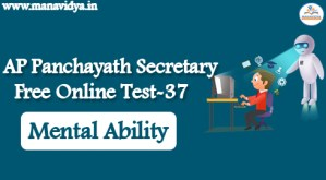 AP Panchayath Secretary Free Online Test-37