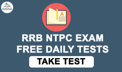 RRB NTPC ONLINE TESTS FREE