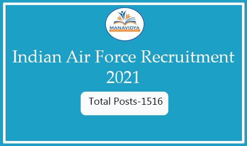 indian air force recruitment 2021 notification