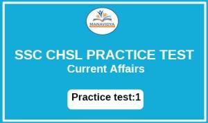 SSC CHSL PRACTICE TEST