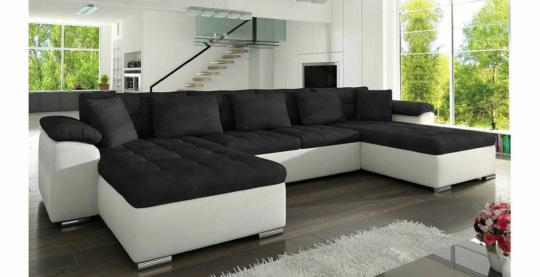 Manaya Prime U Sofa I Hvid Med Sorte Hynder