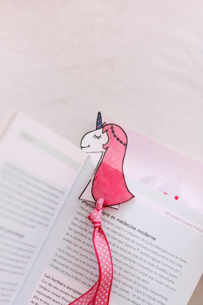 DIY marque-page licorne & dinosaure