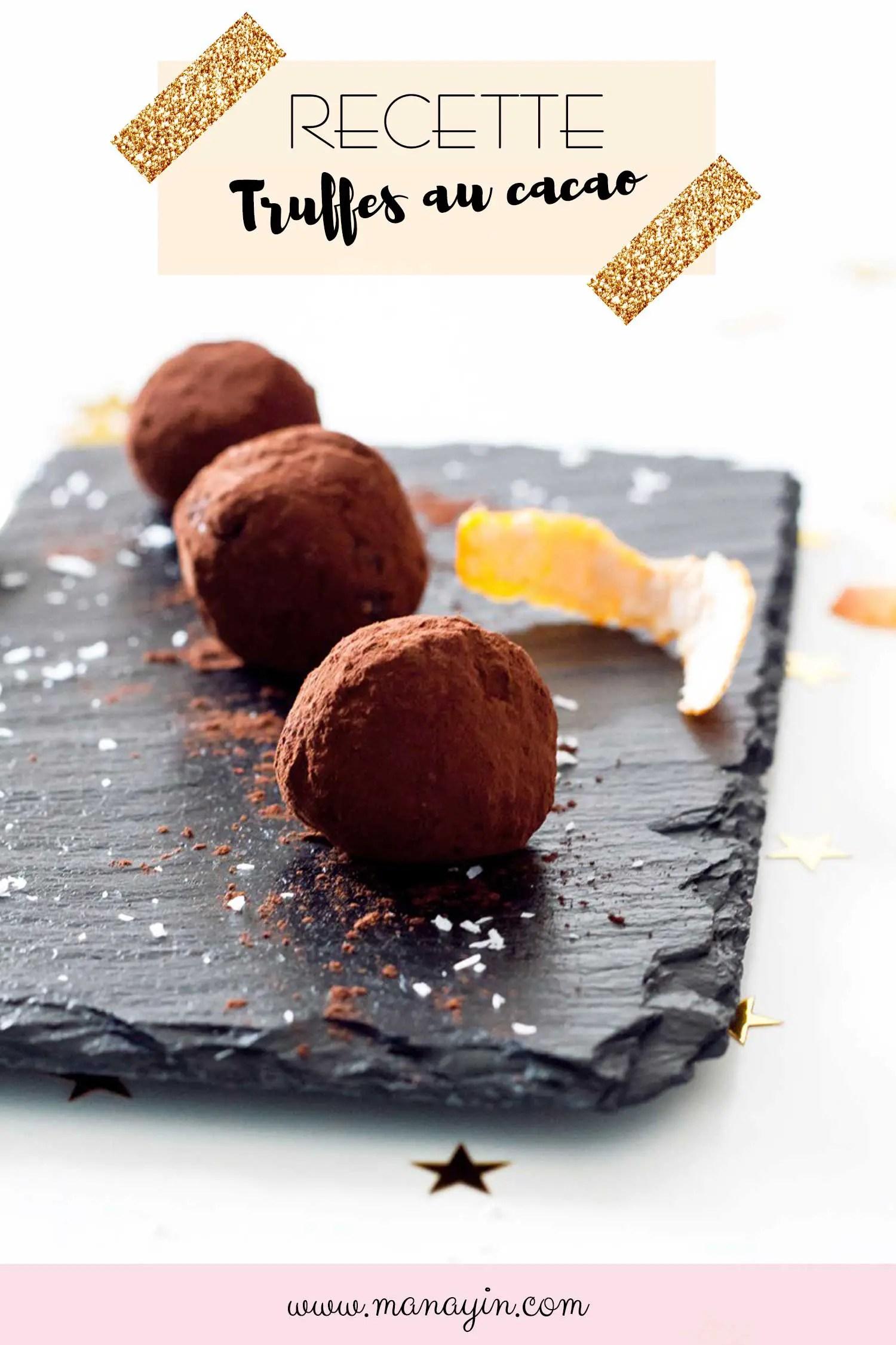 Recette truffes au cacao