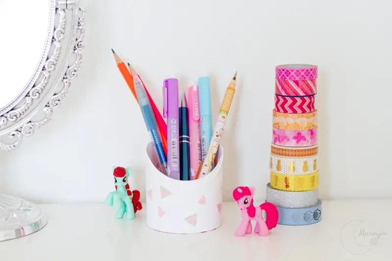 DIY récup' pour faire des pots à crayons !