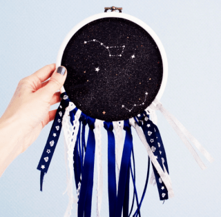 DIY dream-catcher « cosmique » graphic