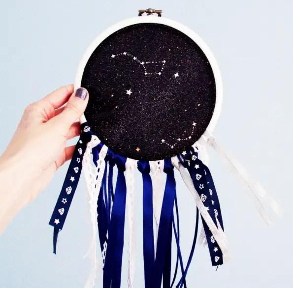DIY dream-catcher «cosmique»