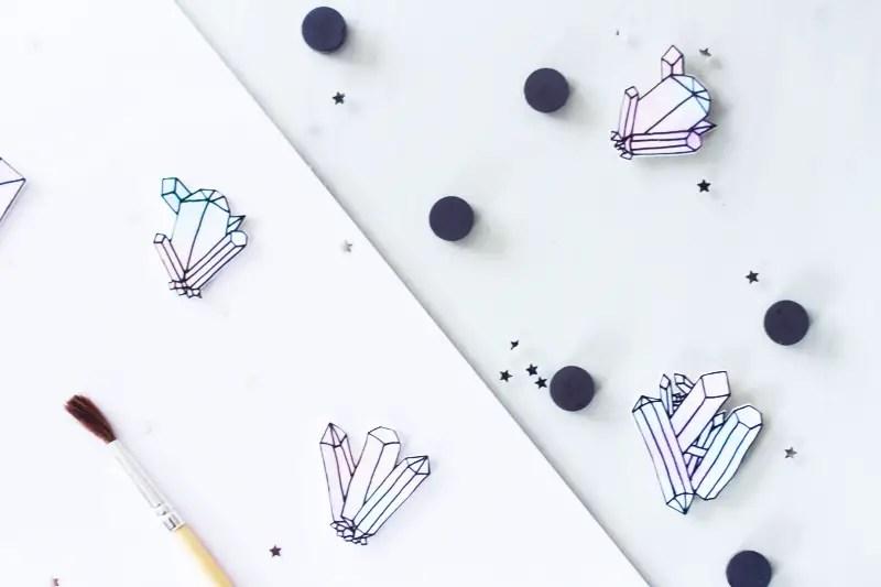 """DIY pour faire des magnets """"cristaux"""""""