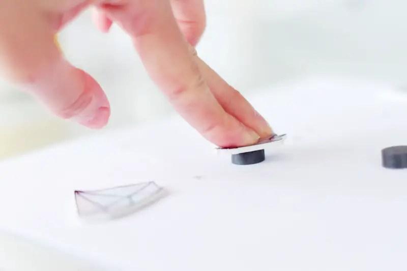 DIY magnets en forme de cristaux