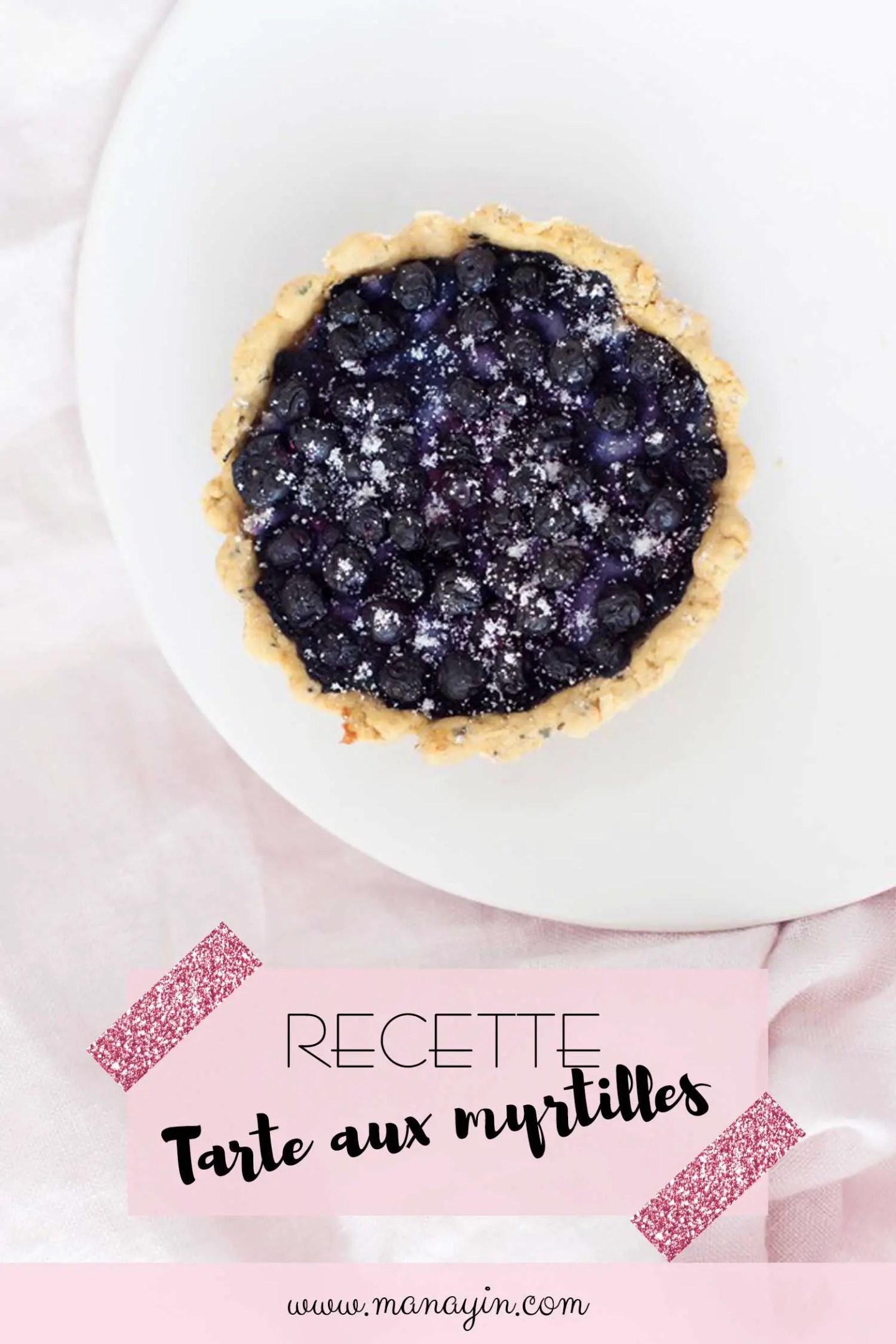 Recette tarte aux myrtilles