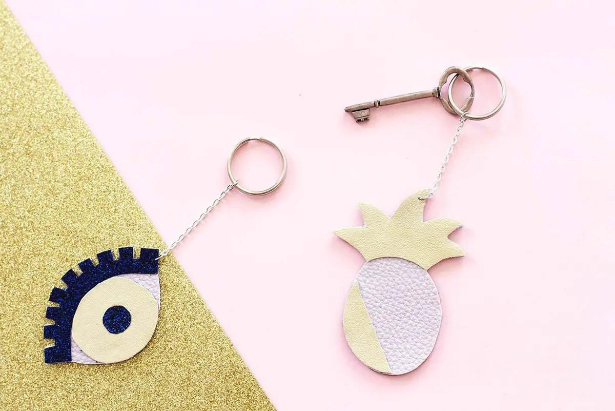 """DIY porte-clés ananas et """"oeil porte-bonheur"""""""