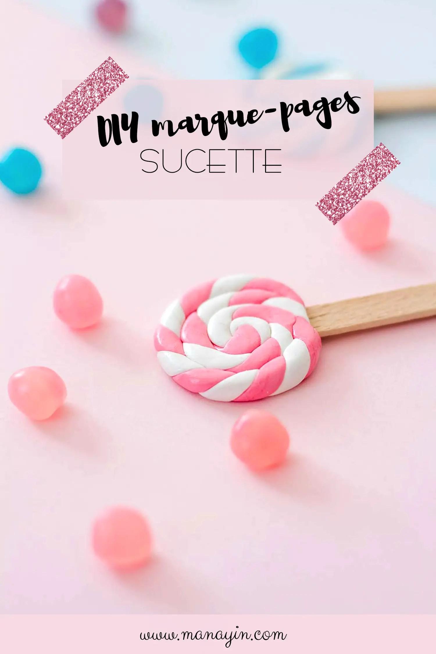 DIY marque-pages sucette