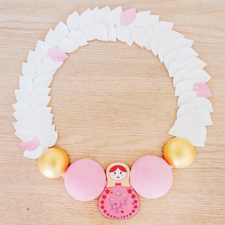 DIY couronne de l'avent 2017 – Inspiration Matriochka graphic