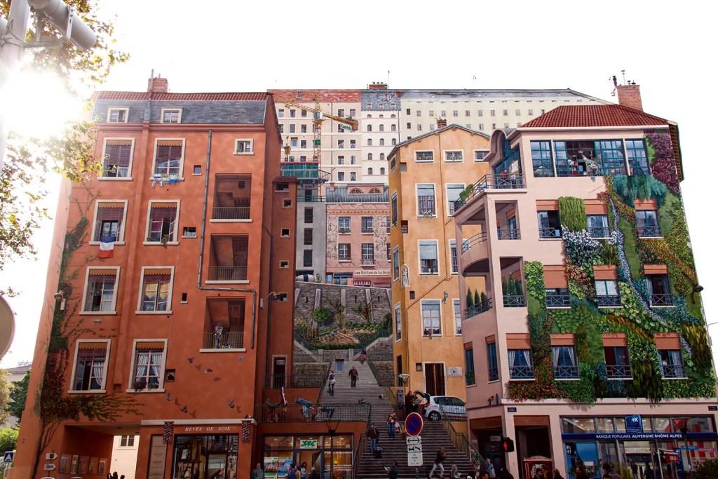 Lyon, Mur peint des Canuts – Croix-Rousse