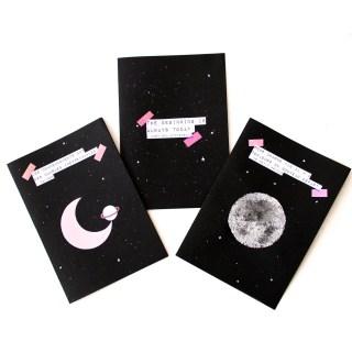 DIY : Créer ses cartes de voeux pour 2018 – Inspiration cosmique graphic