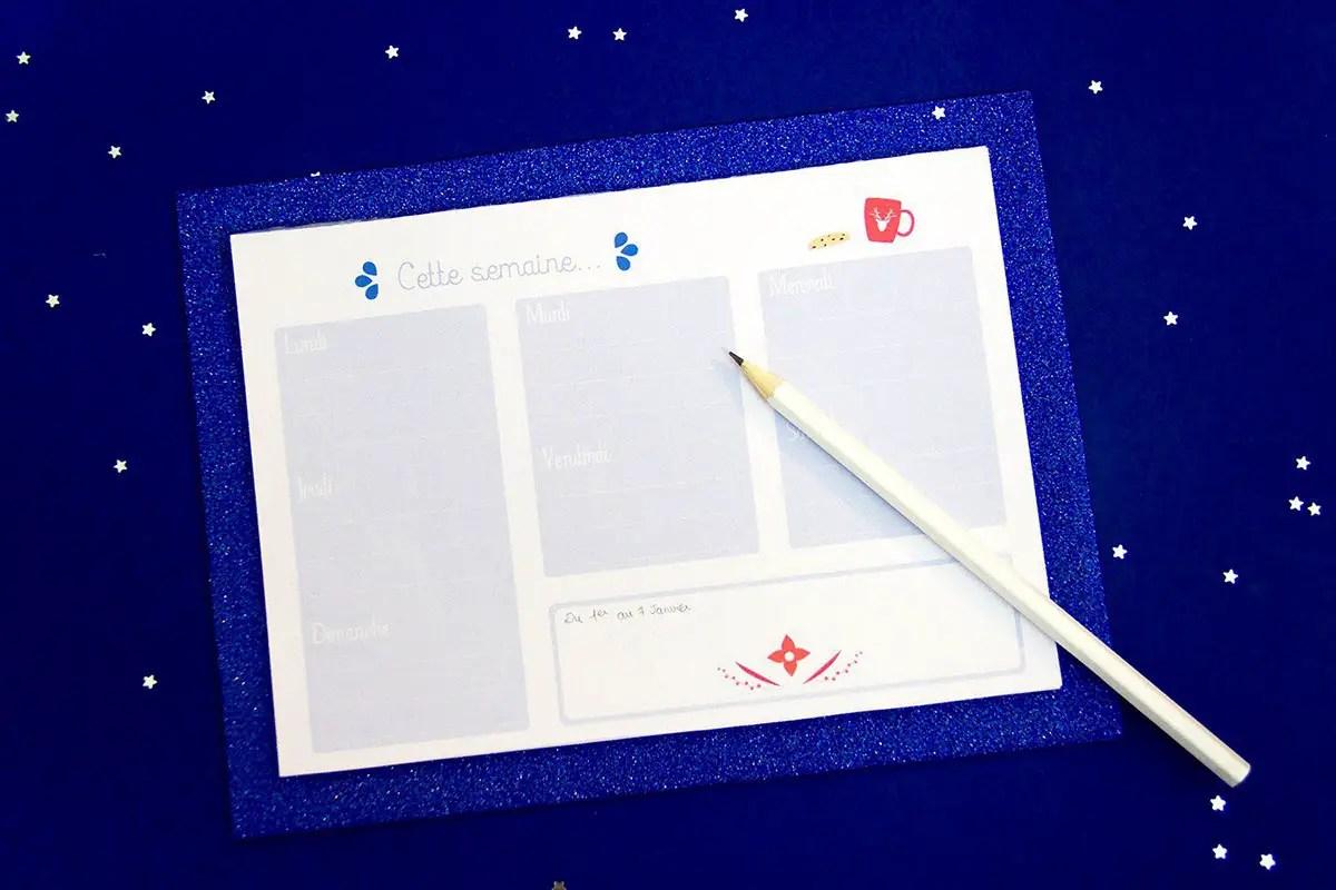 Semainier à imprimer + le DIY pour faire son semainier de bureau