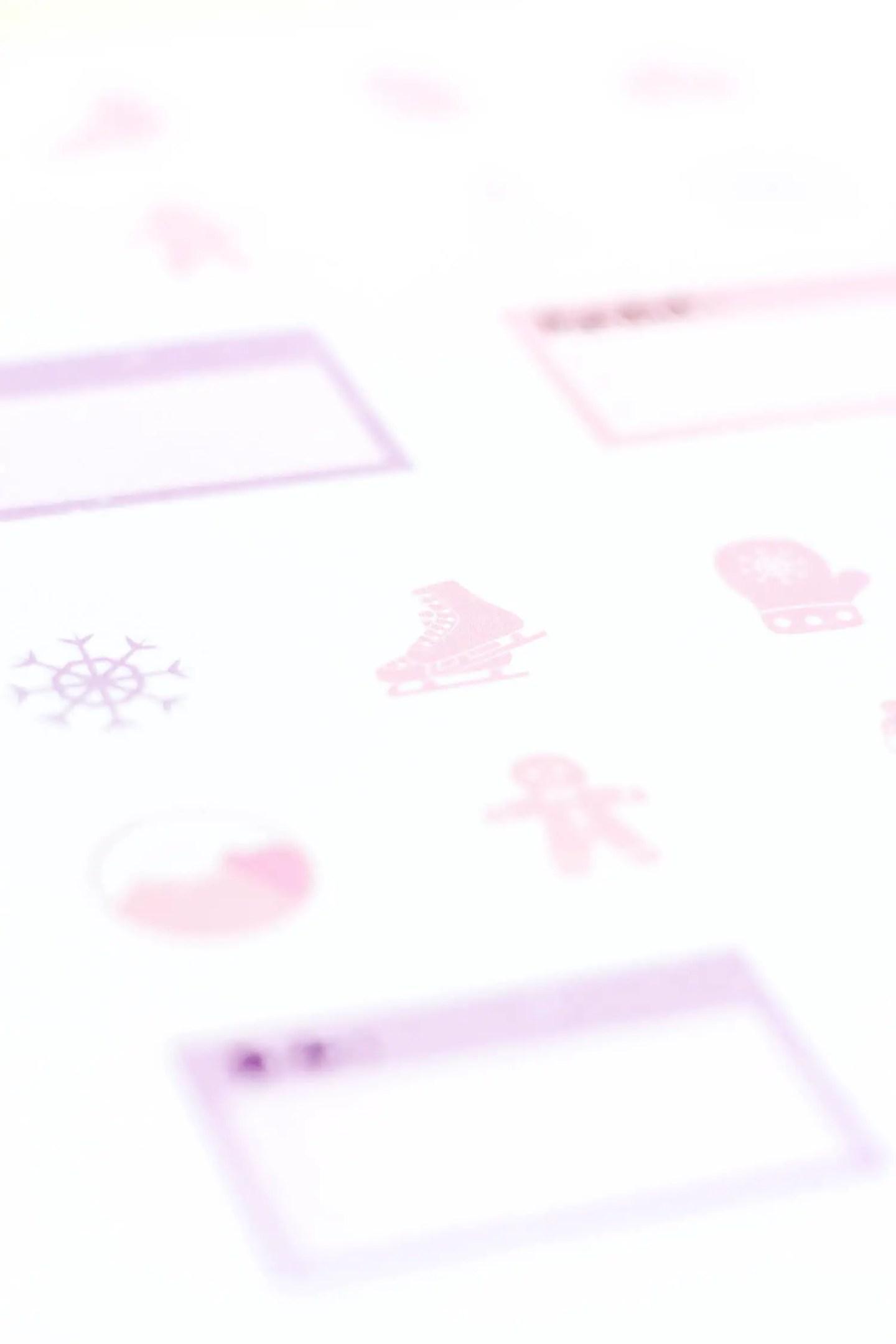 Freebie stickers hiver