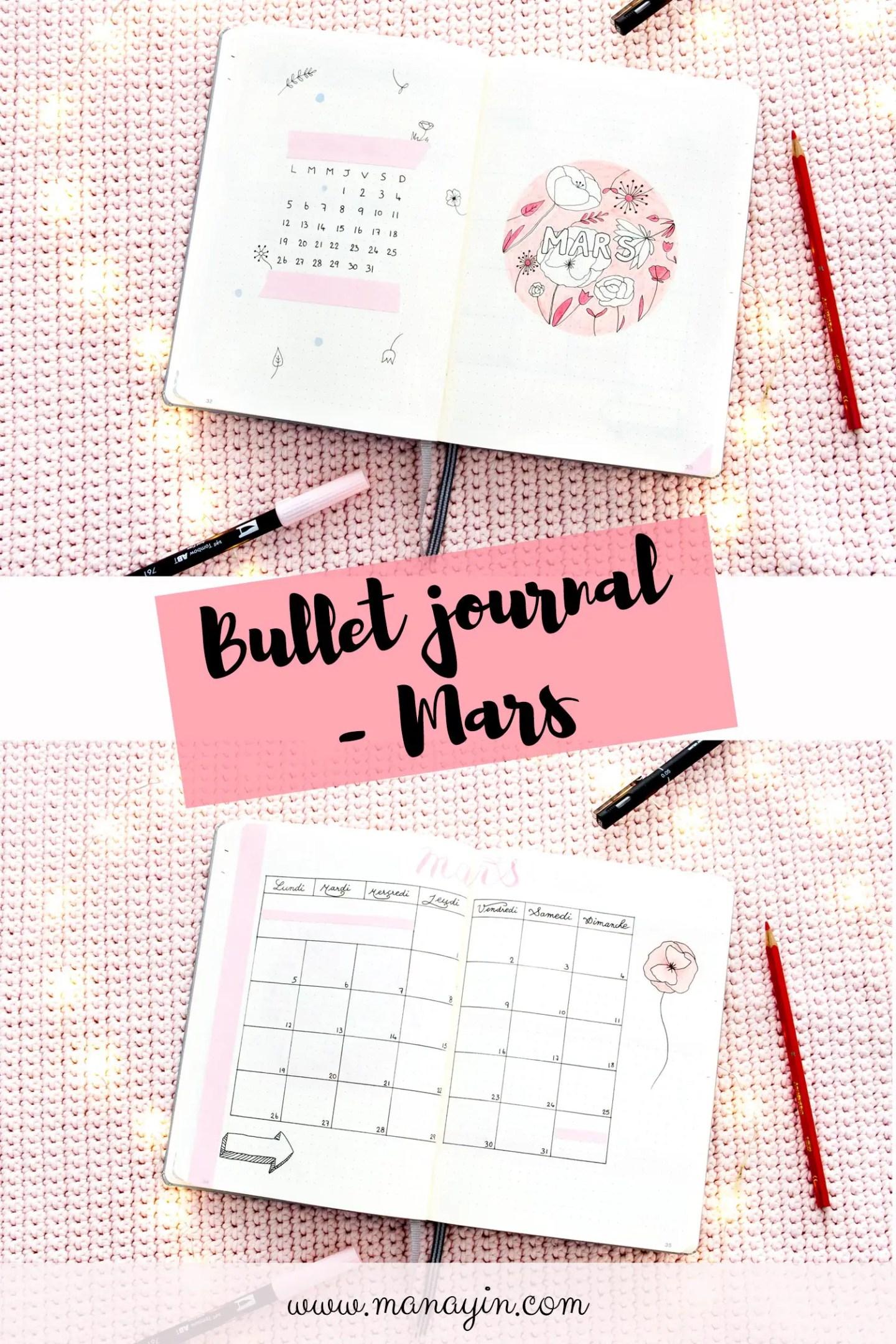 Bullet journal - Mars