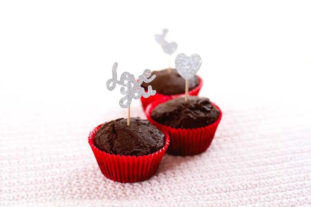 Recette de muffins au cacao pour la Saint-Valentin