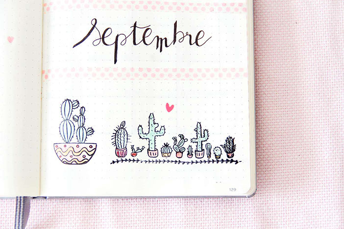 Bullet Journal Septembre 2018 : Idée de mise en page
