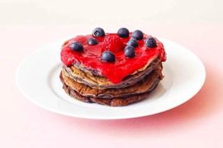 Pancakes aux framboises : ma recette sans gluten graphic