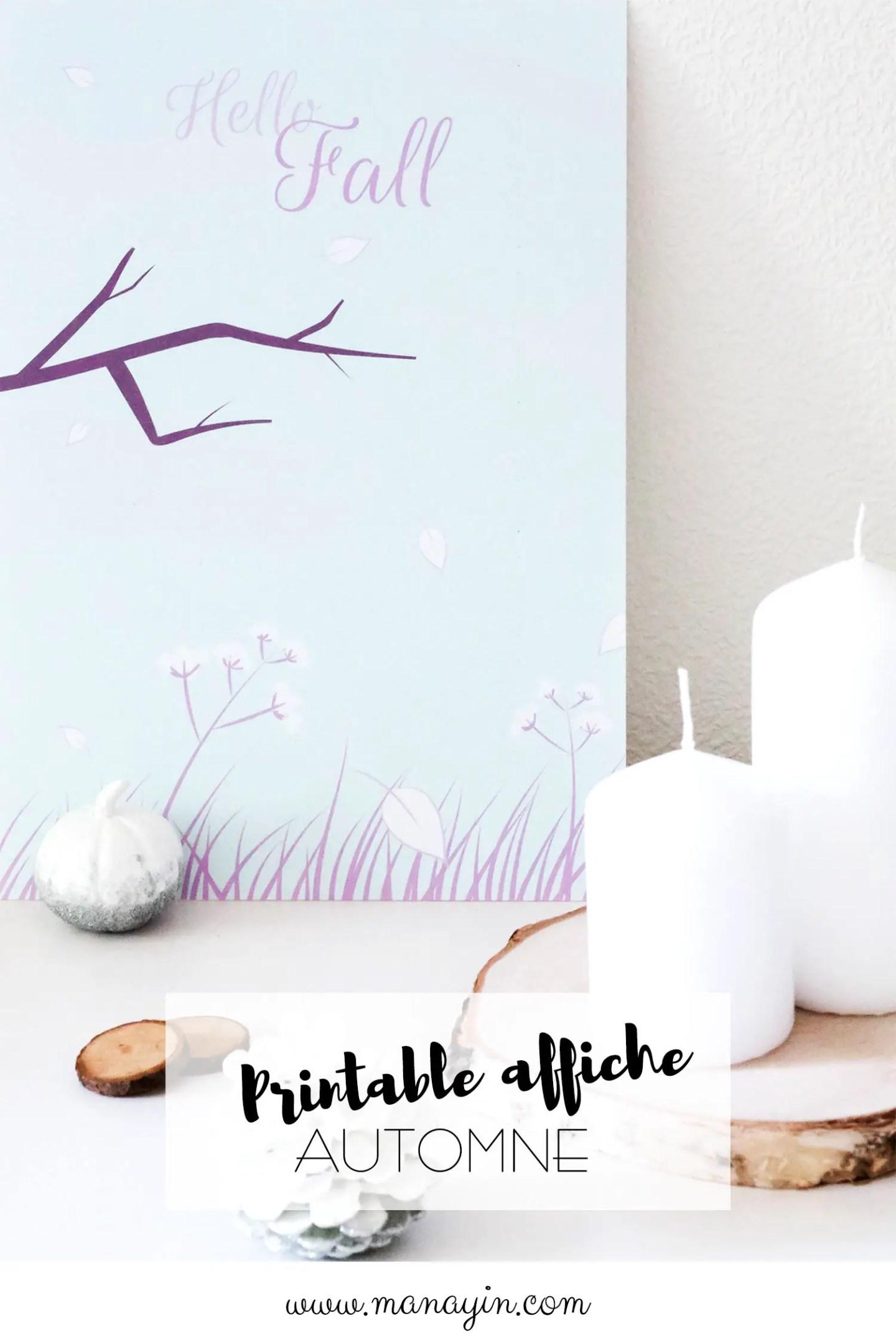 Affiche Automne - Printable