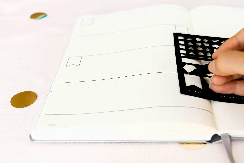 Décorer bullet journal sans dessiner