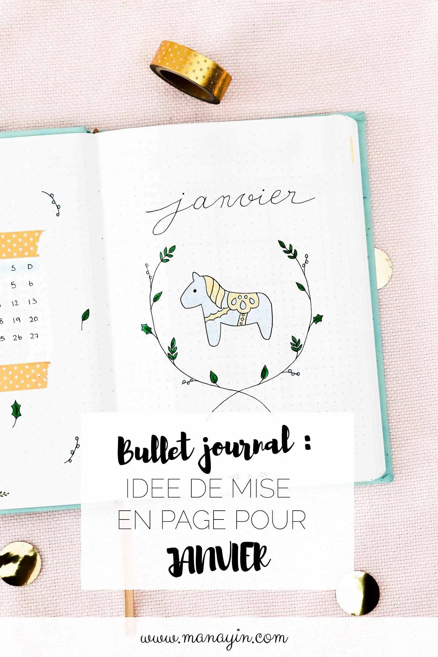 Bullet journal janvier