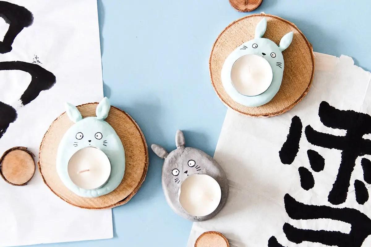 DIY Totoro bougeoir