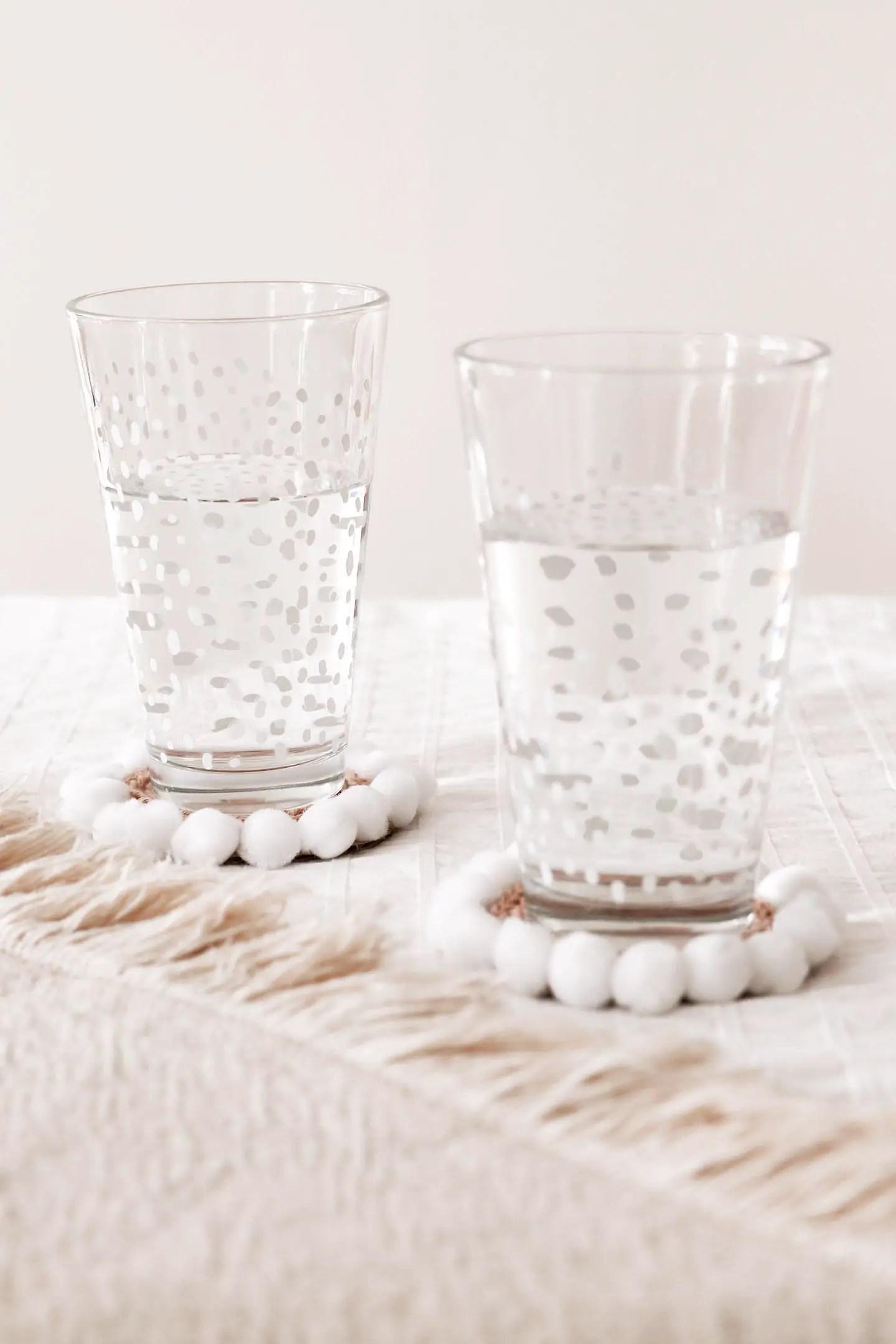 DIY tricotin : sous-verres