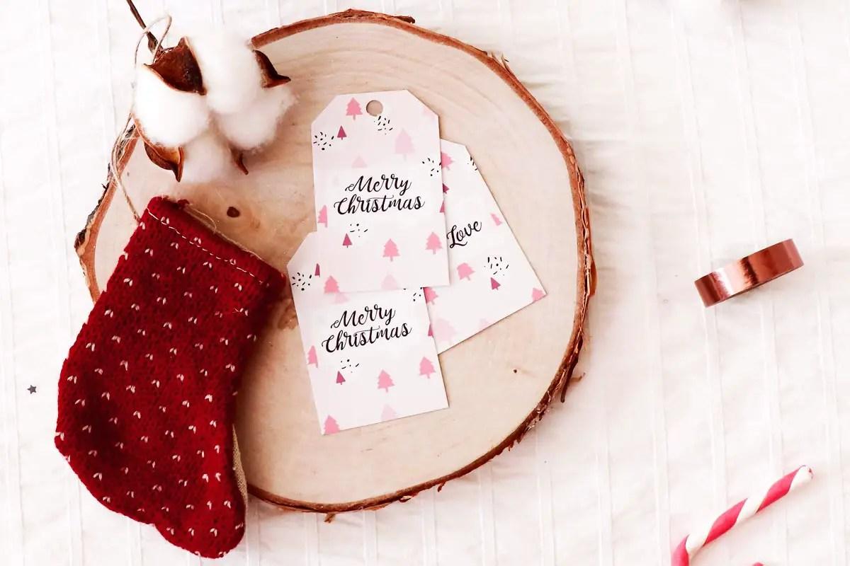 Des étiquettes de Noël gratuites à télécharger