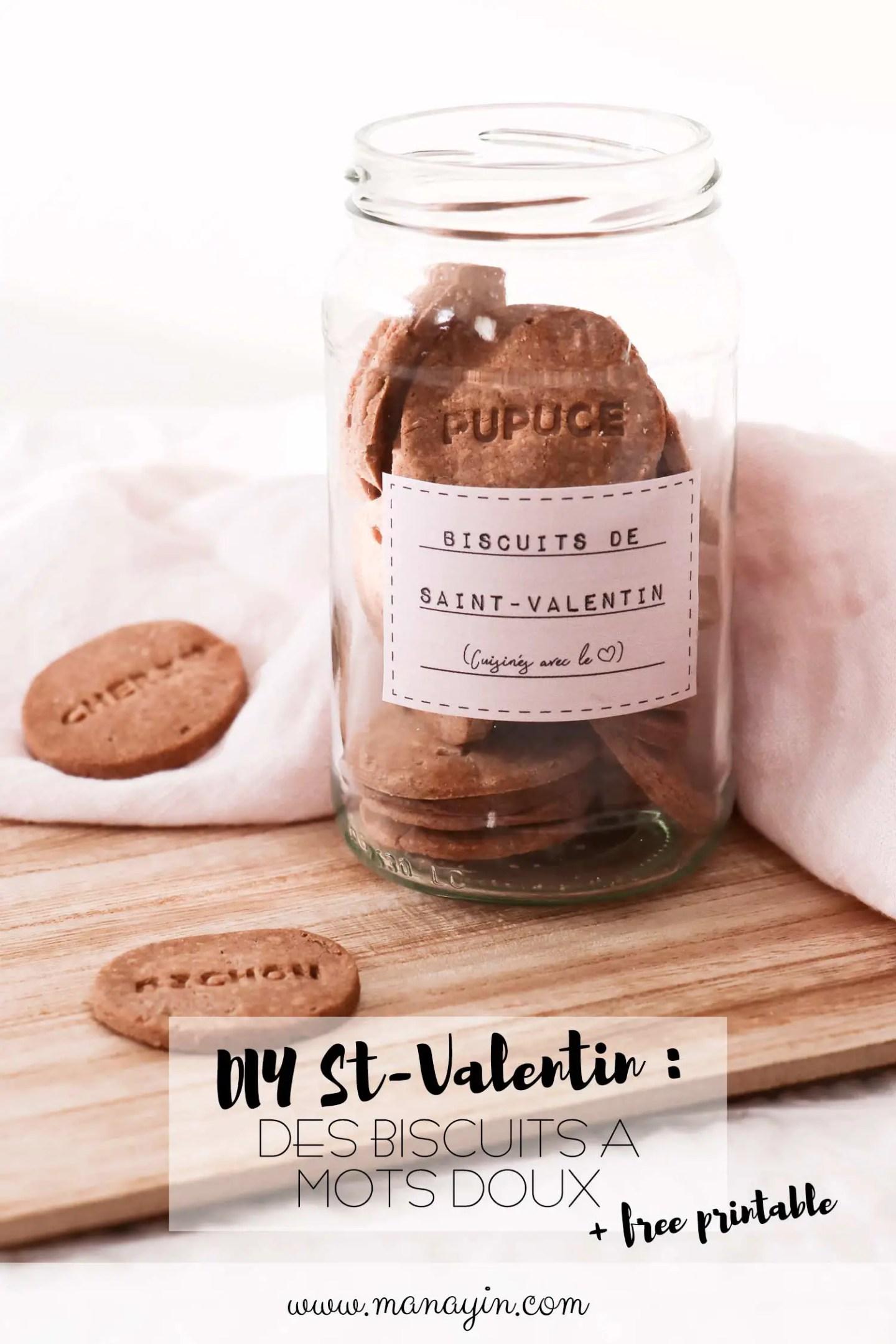 DIY Saint-Valentin biscuits