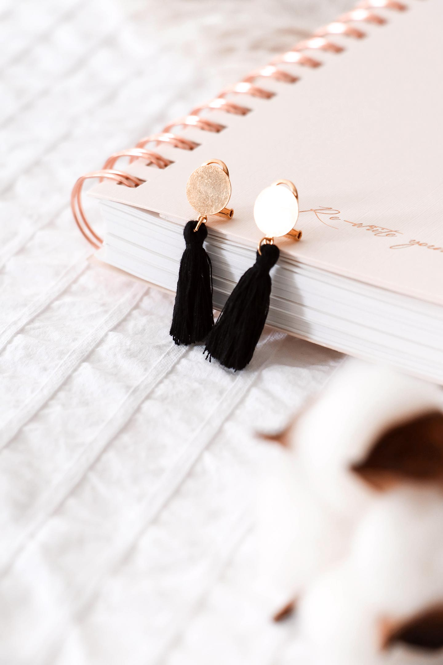Boucles d'oreilles faites main DIY