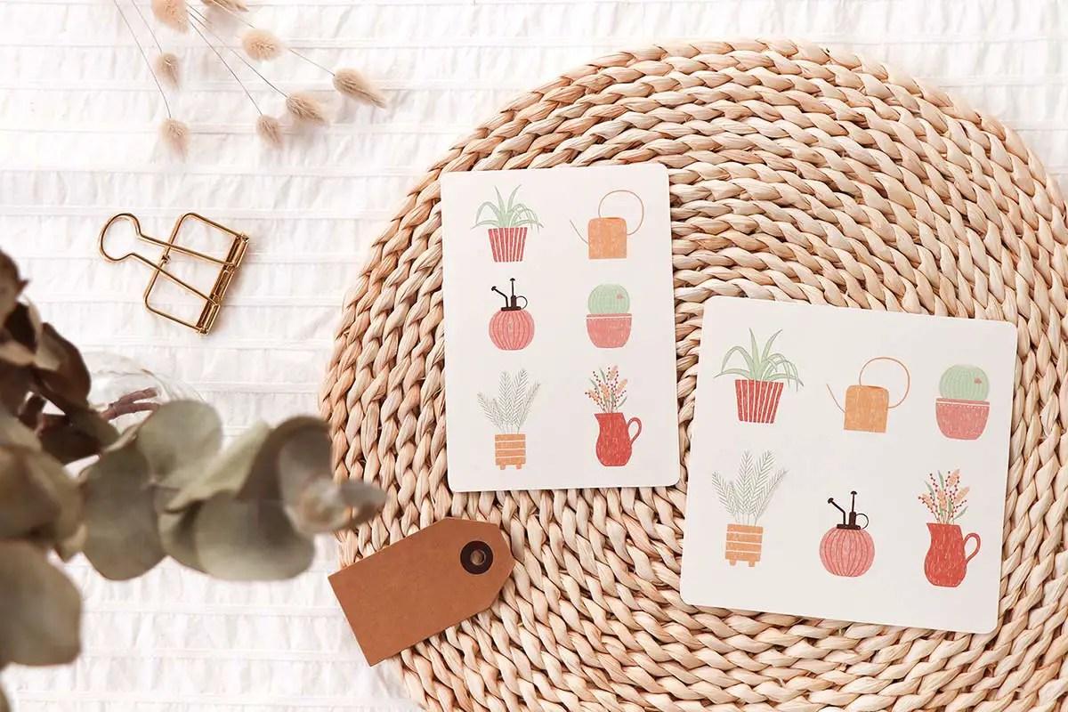Dessin de plantes : des cartes et un fond d'écran à télécharger