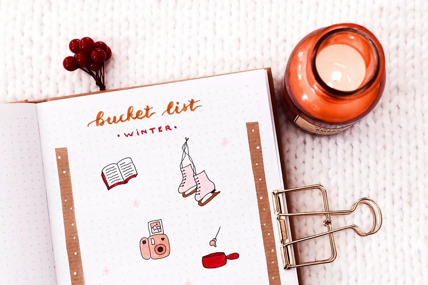 Matériel lettering bullet journal