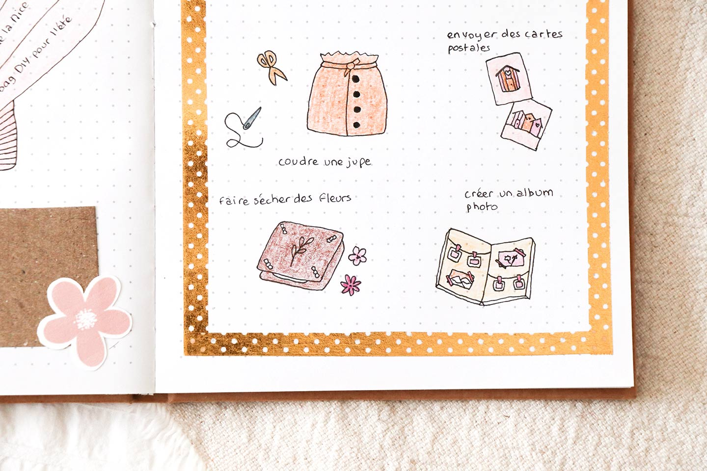 Collection été bullet journal