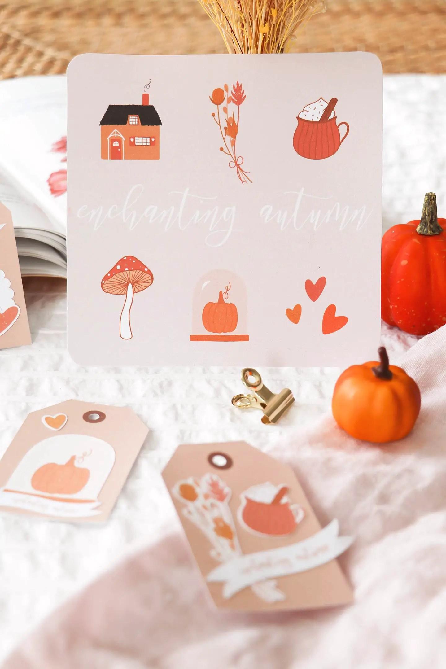 Carte automne à télécharger
