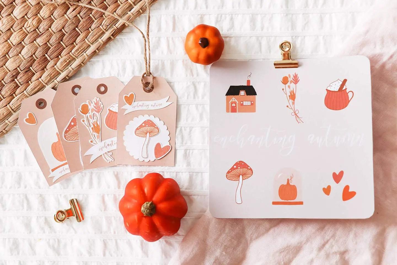 Free printable carte automne
