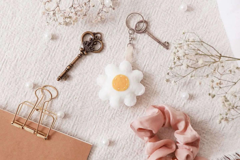 Cadeau porte-clé fleur