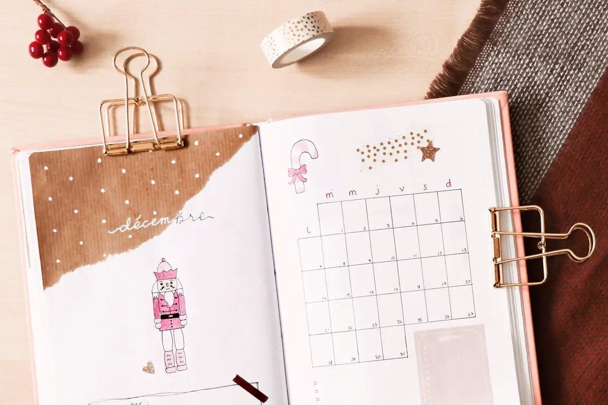 Bullet journal : mon mois de décembre sur un thème de Noël