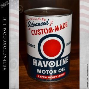 vintage Havoline Motor Oil can
